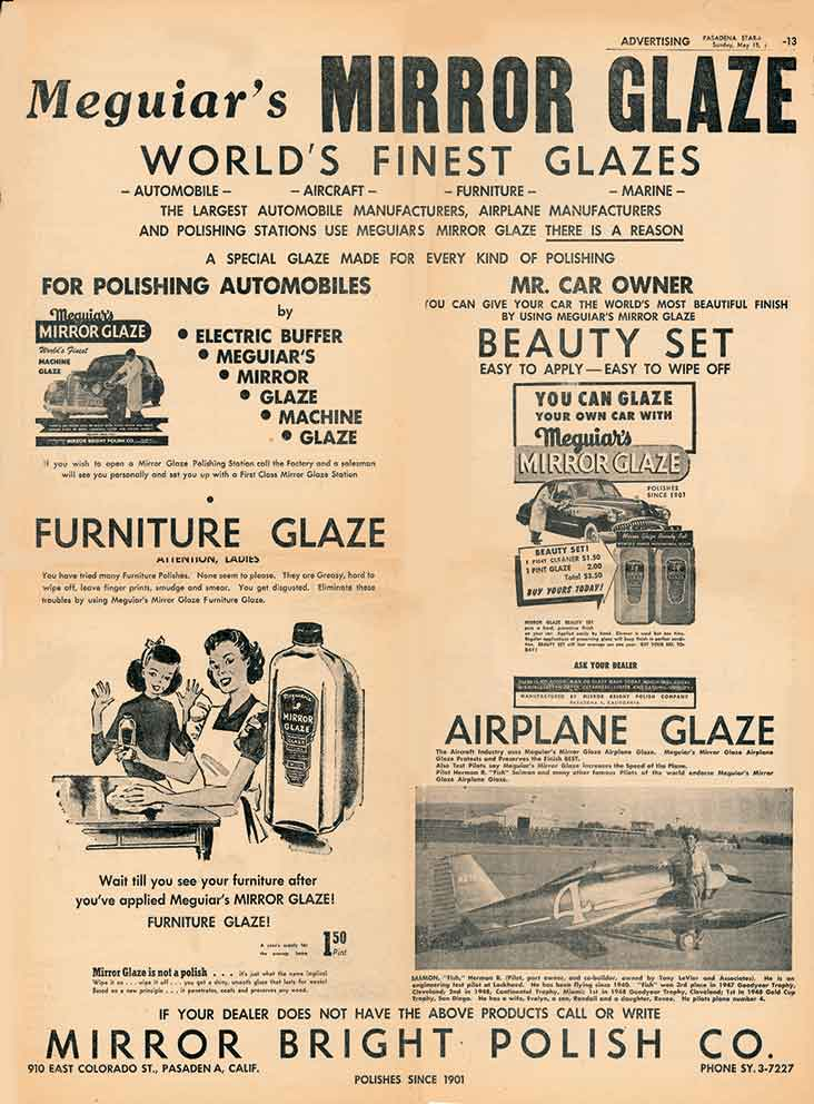 Image of Meguiar's Mirror Glaze advertisement
