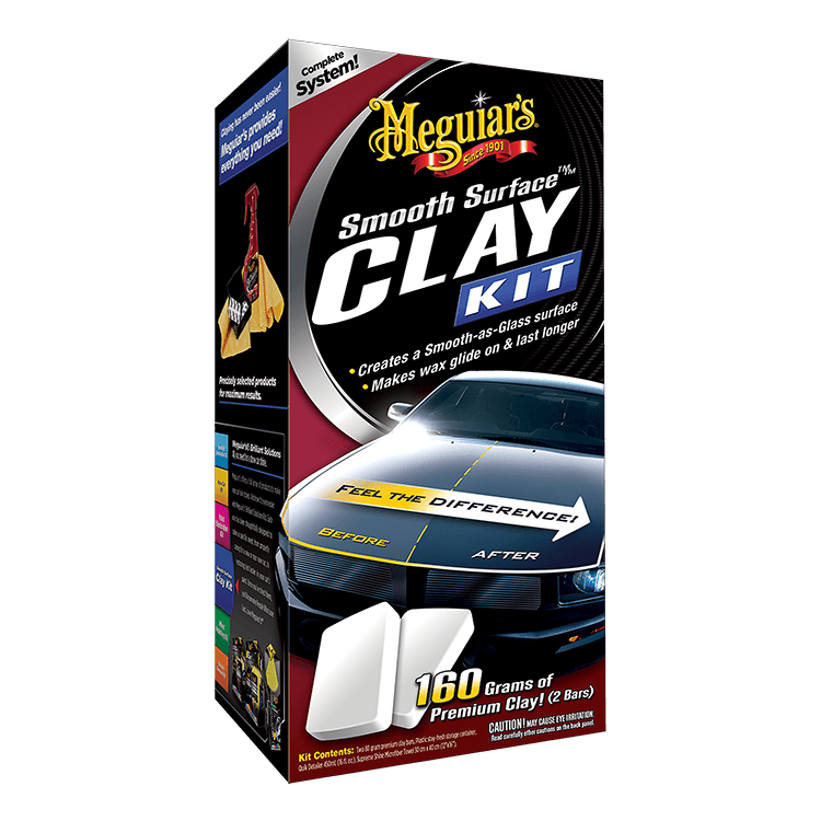 Image of Meguiar's Clay Kit. Comes with bars of clay along with Quick Detailer and Microfiber